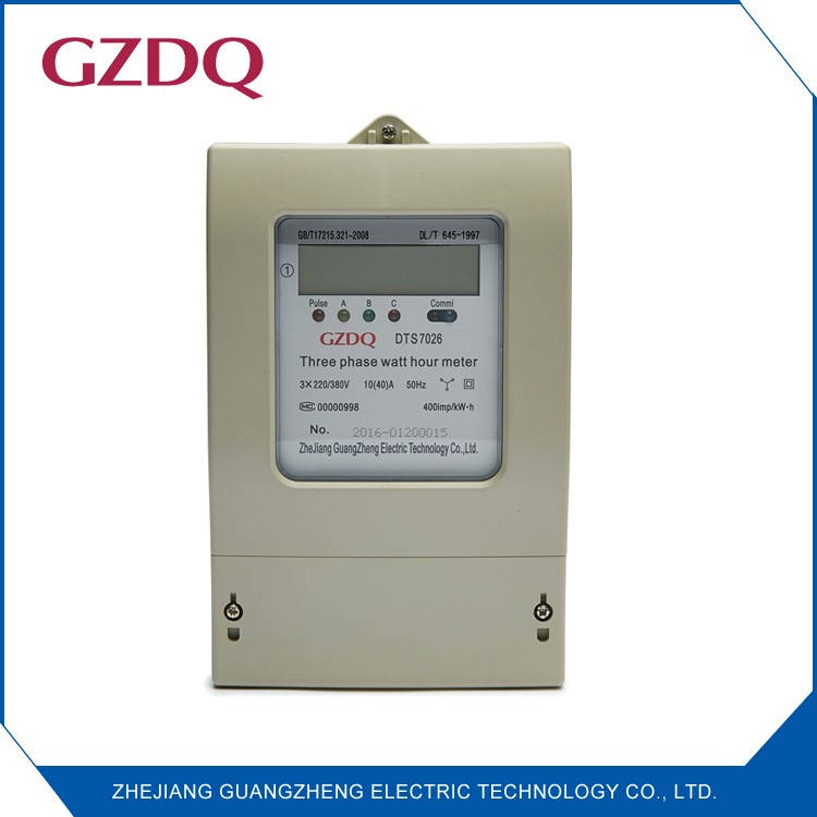 Wall Mounted LCD digital 3 phase kwh meter with rs485 communication