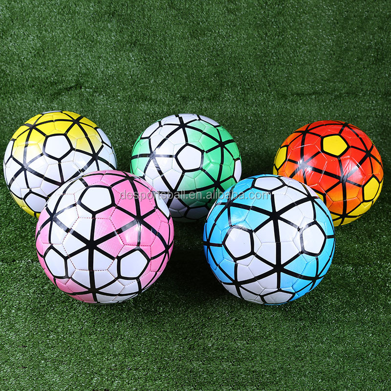 official size 5 hight quality PU material custom logo printing soccer ball