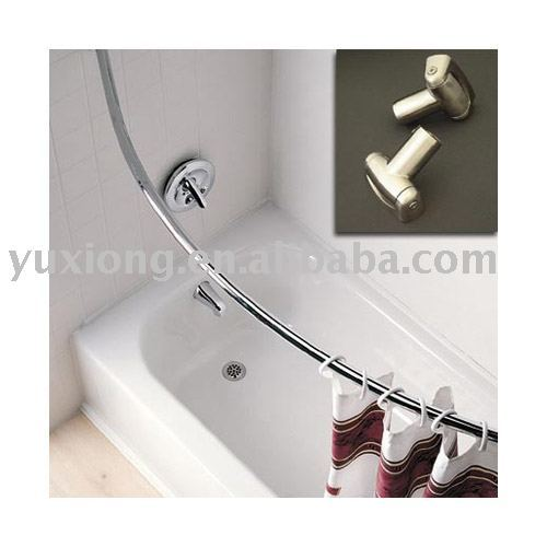 Curtains Ideas curtain rod suppliers : Single Curved Shower Curtain Rod, Single Curved Shower Curtain Rod ...