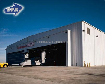 High Quality Prefabricated Light Steel Aircraft Hangar Construction