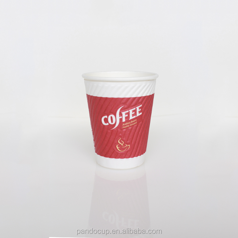 High QualityEmbossed Finish Custom Disposable Take Away Coffee Paper Cup