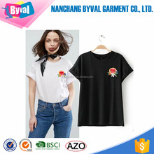 online shopping short sleeve embroidery t shirt jersey cotton o neck custom women t shirt design china factory led