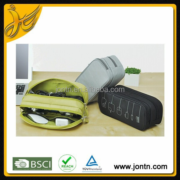 Double layer travel home cable organizer