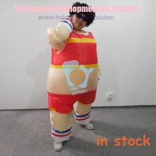 fat inflatable mascot costume in stock