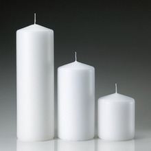 White Unscented Cheap Pillar Candles 3x3 3x6 3x9 Made In China