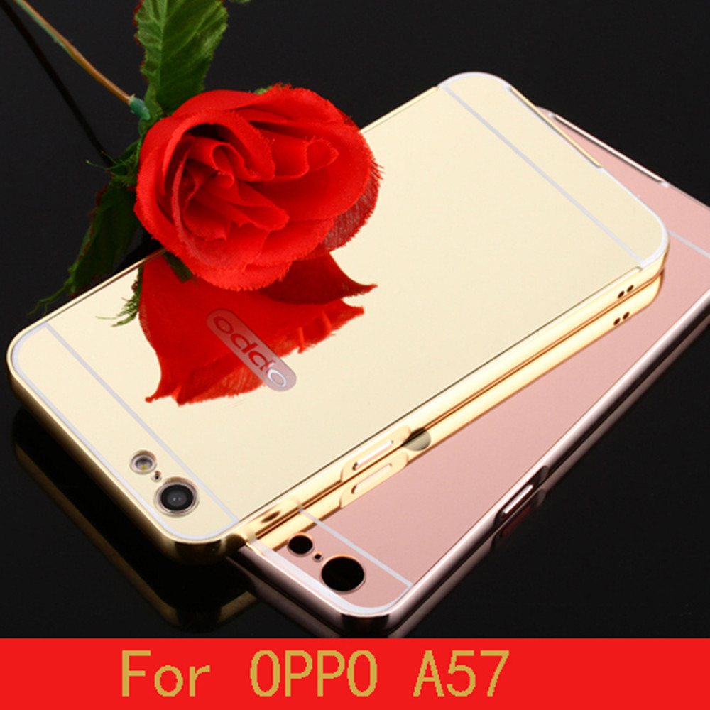 Metal Aluminum Bumper For Oppo A57 Smart Phone New Products Aluminum Mirror Metal Case