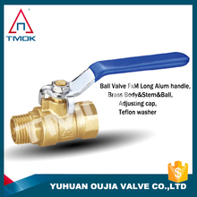 brass ball valve 3/4 inch long handle PTFE seated forged copper body with high pressure BSP or NPT threaded