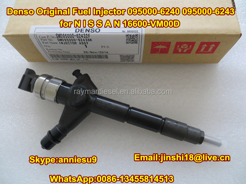 Denso Original Fuel Injector 095000-6240 095000-6243 for N I S S A N 16600-VM00D