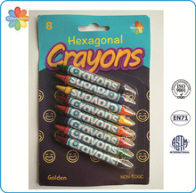 For school and kids wholesale non-toxic Hexagonal Crayon custom stationery
