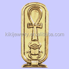 fashion alloy gold ankh cartouche pendant jewelry