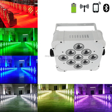 LED RGBWA+UV battery rechargeable wireless stage par light