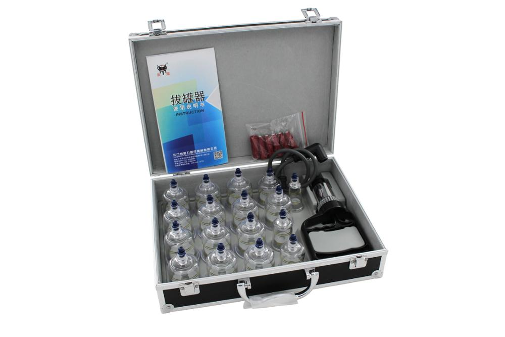 Olympics Cupping Therapy Equipment Set with pumping handle 19 Cups & English Manual FDA/CE