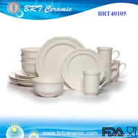 European Style Breakfast Antique White 16-Piece Dinnerware Set
