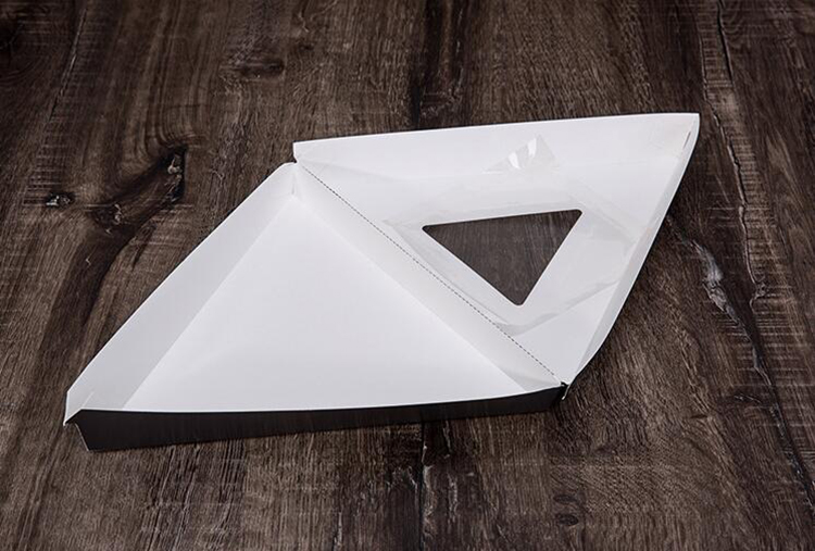Triangle shape cardboard paper pizza slice box