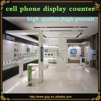 2016 high grade wooden cell phone charger display for shop design