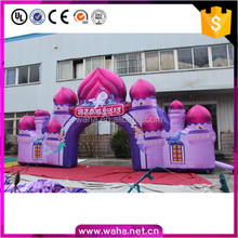 2017 New design customized inflatable arch of castle, cheap inflatable entrance arch