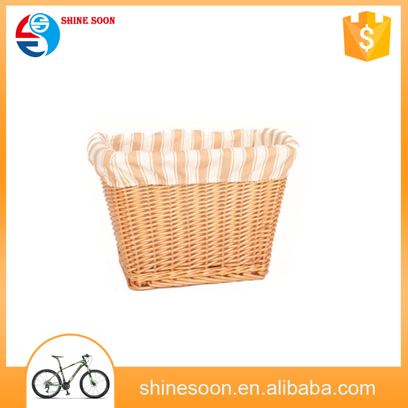 New products lady bike baskets wicker pet bicycle basket