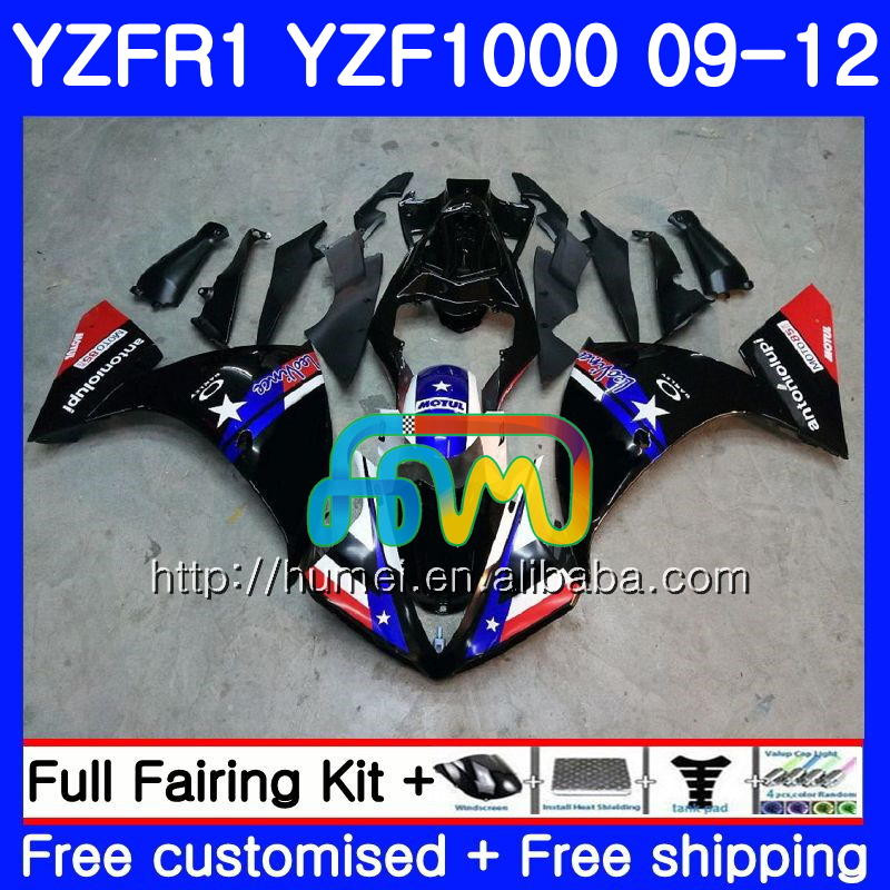 Body For YAMAHA glossy black YZF-<strong>R1</strong> YZF1000 R 1 YZF-1000 104HM7 YZF 1000 YZF <strong>R1</strong> <strong>09</strong> 10 11 12 YZFR1 2009 2010 2011 2012 Fairing