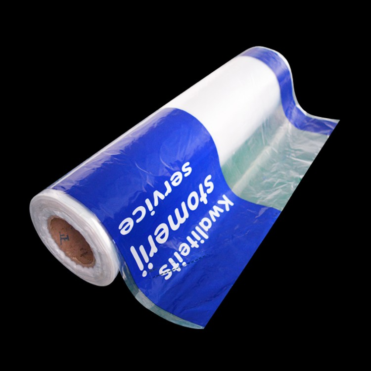 printed dry cleaning poly plastic laundry roll bag for garment packing