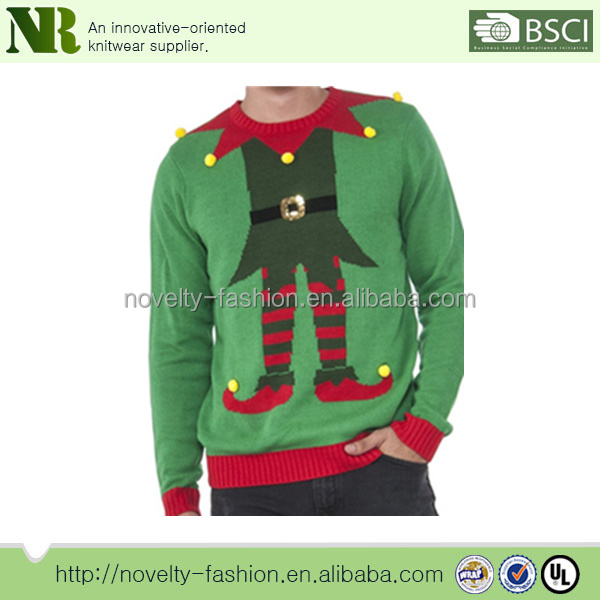 100% cotton Christmas Sweater for men ugly christmas sweater with funny pictures