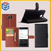Online Shopping Mall Flip Leather Cover Wallet Stand Case For Blackberry Priv With Card Slots
