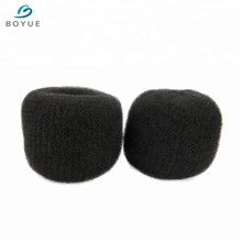 10cm 20cm extra large nylon hair extension pads hair donut bun maker with comb accessories