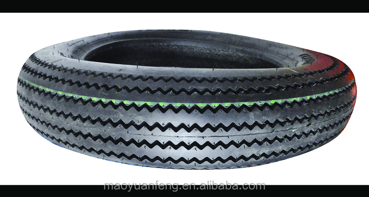 high quality sawtooth pattern motorcycle tire 4.00-18 with inner tube made in china
