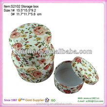 China Round Box Cover with Fabric