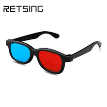 Red blue 3d eyewear with black frame wholesale china 3d video glasses