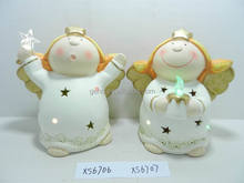 Hot selling ceramic little angel with light