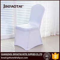 Factory wholesale lycra spandex print chair cover with 4 elastic feel holders