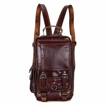 2002C Stylish Natural Leather Backpack for Girls Lady Multifunction Boy Shoulder Bag