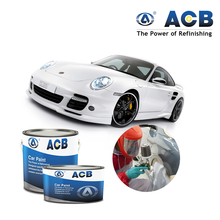 ACB best price 1K pearl colors matte white car paint