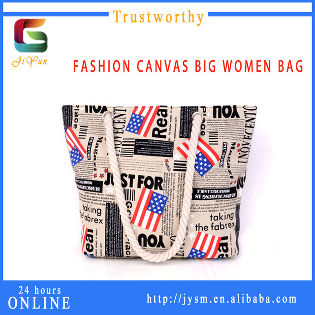 UK Retro Style Presonality Flag Cotton Canvas Tote Bag Wholesale Cheap Shoulder Bag Custom Women Shopping Bag