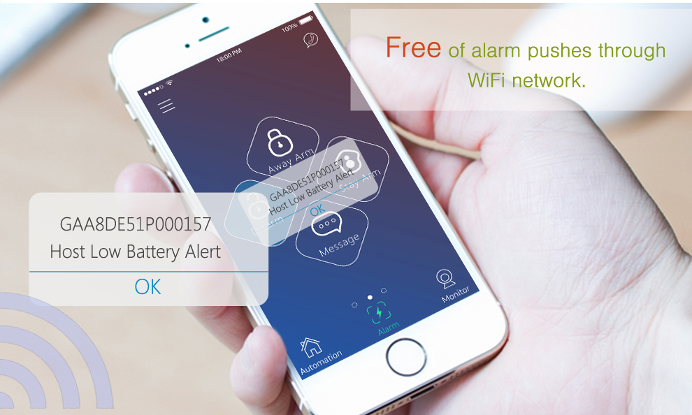 2018 New interactive communication WIFI wireless alarm system GS-S1,only $38 specail discount price