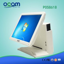 POS8618: cheap 15 inch all in one touch screen cash register POS device system dual screen for sale