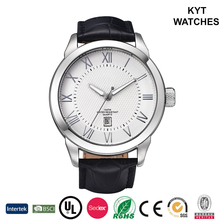 KYT Good Time-keeping Wholesale New Products 2016 Men Japan Quartz Soft Strap Leather Watch