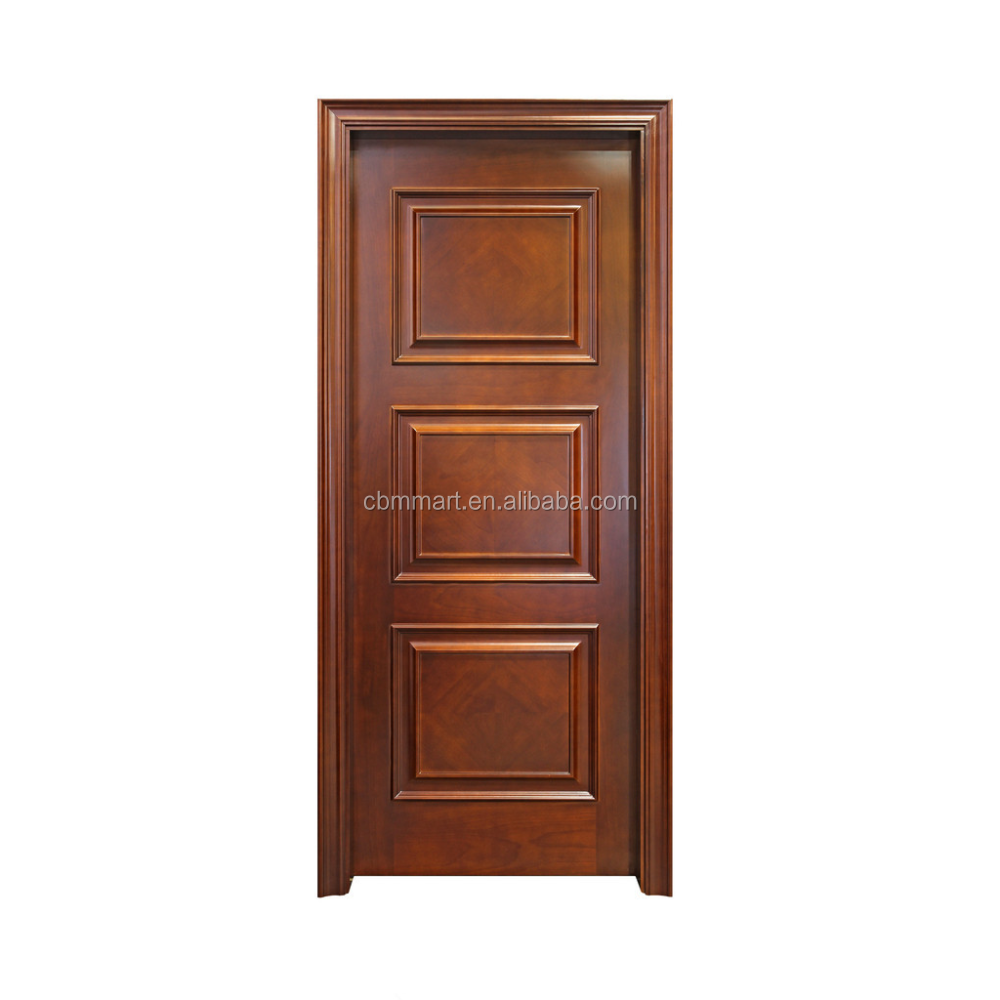 Luxurious design wooden composite solid wood armored door for villa