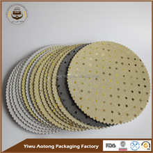 Wholesale Round Silver Gold Foil Cake Boards/weeding cake base/bridecake board
