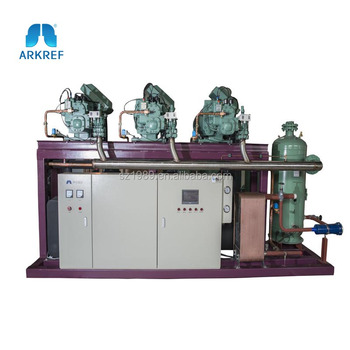 Chicken Blast Freezer Bitzer Screw Compressor Refrigeration Unit for cold storage
