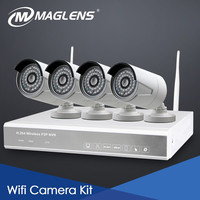 outdoor 720P 1MP CMOS easy installation power cable multiple platform monitoring wireless surveillance security cameras system