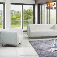 lounge suite leather sectional sofa furniture stainless steel leather sofa S823