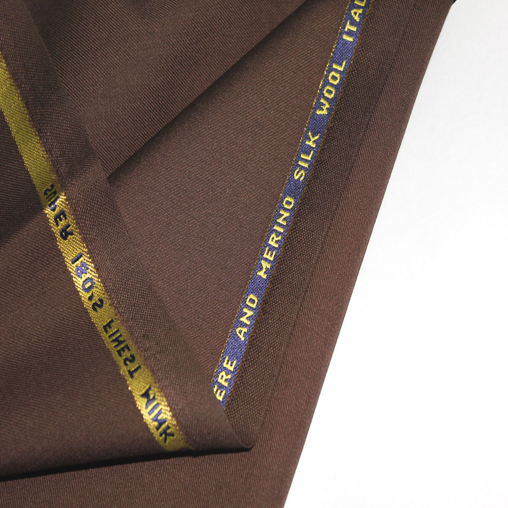 High Quality Italy Dark Brown Wool Suit fabric For Guangdong Textiles
