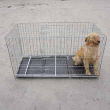 durable black iron folding wire metal dog crate cat cage