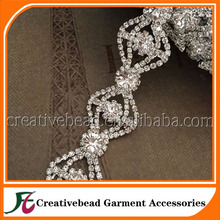 Pearl Rhinestone Chain Trimming For Wedding/Shoe/Glass/decoration CBEM051