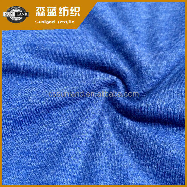 cotton polyester knitted single jersey fabric for sportswear