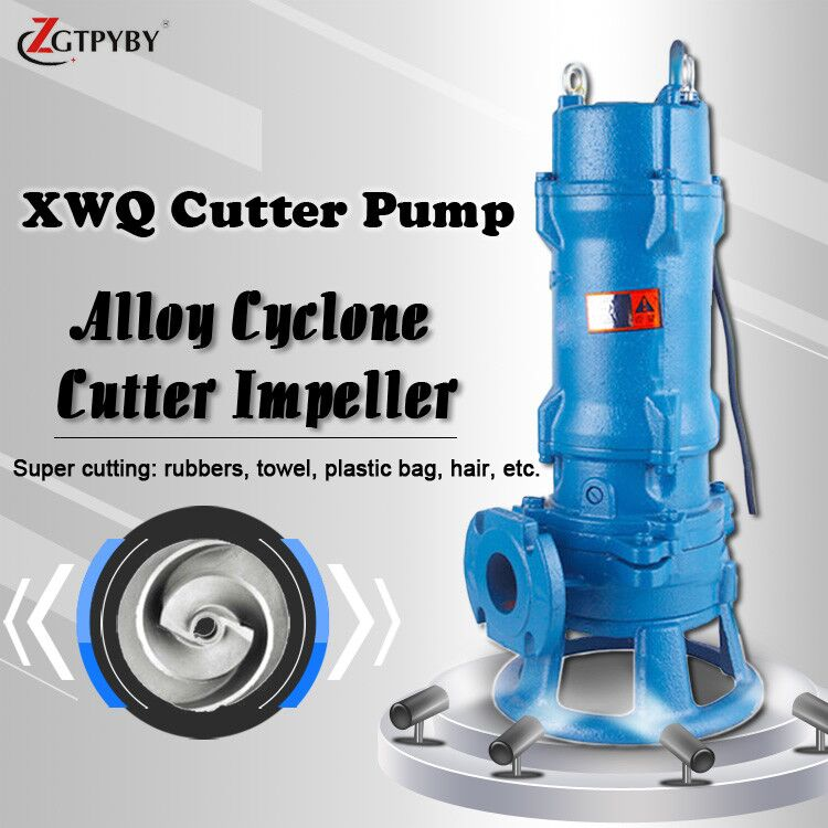 5hp submersible sewage pump with knife cutting impeller biogas pump