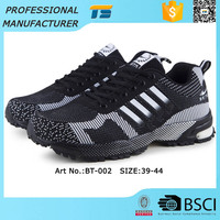 Rubber Soles Sport Shoes Flyknit Vamp Sneaker Shoe