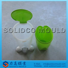 plastic mini trash can mould, desktop dust bin mould, plastic trash can injection molding