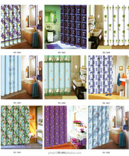 80gsm polyester shower curtain with heavy line / color shower curtains/ easy-care home textile shower curtain